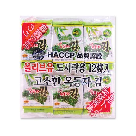 買一送一【韓國】 海苔(綠) 12入