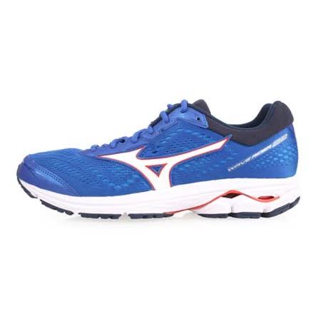 MIZUNO WAVE RIDER 22 慢跑鞋-藍白紅