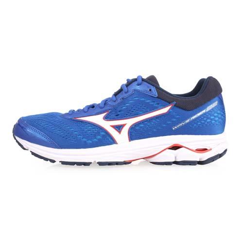 (男) MIZUNO WAVE RIDER 22 慢跑鞋-路跑 訓練 美津濃 藍白紅