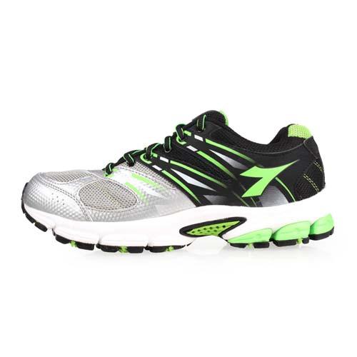 (男) DIADORA 越野慢跑鞋-登山 健走 露營 防潑水 路跑 銀綠黑