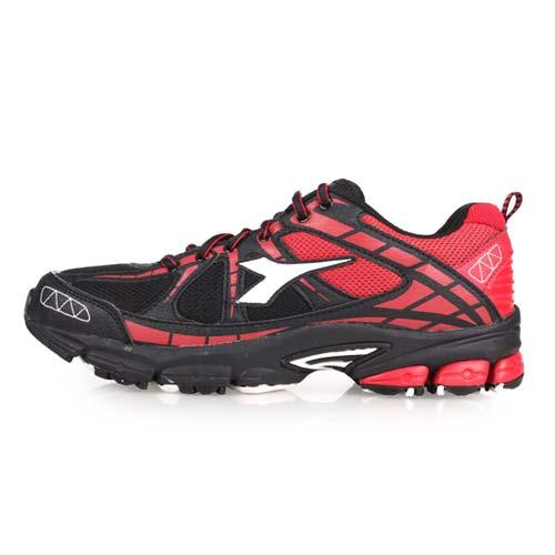 (男) DIADORA 越野慢跑鞋-登山 健走 露營 防潑水 路跑 黑紅白