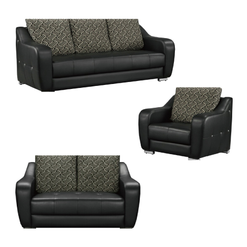 AS-溫德爾半牛皮1+2+3人坐黑沙發