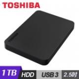 Toshiba 東芝 Canvio Basic 黑靚潮lll 1TB 2.5吋行動硬碟 黑