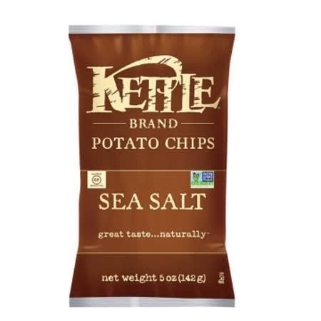 【KETTLE®】 薄切 洋芋片-海鹽 142G / 2入