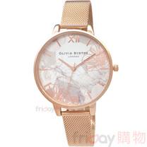 OLIVIA BURTON OB16VM15 迷霧金絲花香 玫瑰金色金屬網狀錶帶38mm女錶
