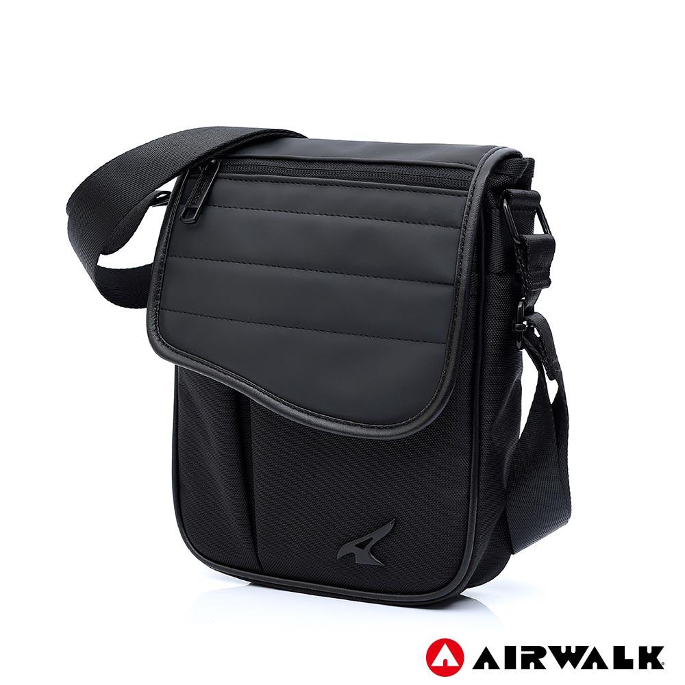 AIRWALK - 型男品格休閒側背包-黑色
