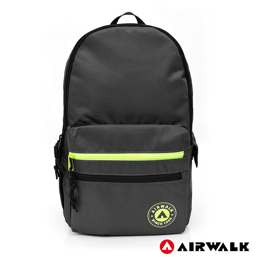 AIRWALK - 自遊宣言休閒後背包-灰色