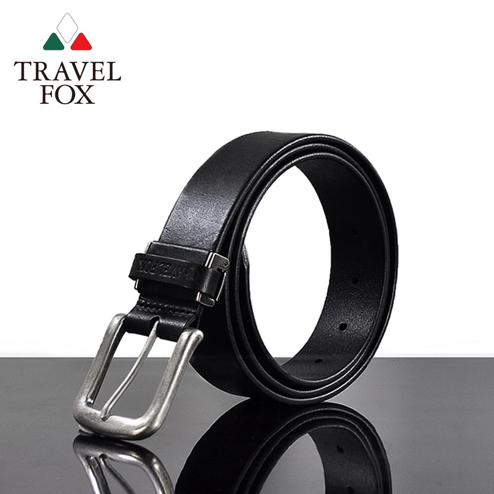 【TRAVEL FOX 旅狐】經典曲線真皮皮帶(TS075-01)