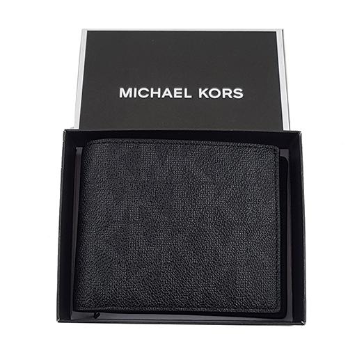MICHAEL KORS 防刮皮革滿版LOGO短夾MK 男生皮夾