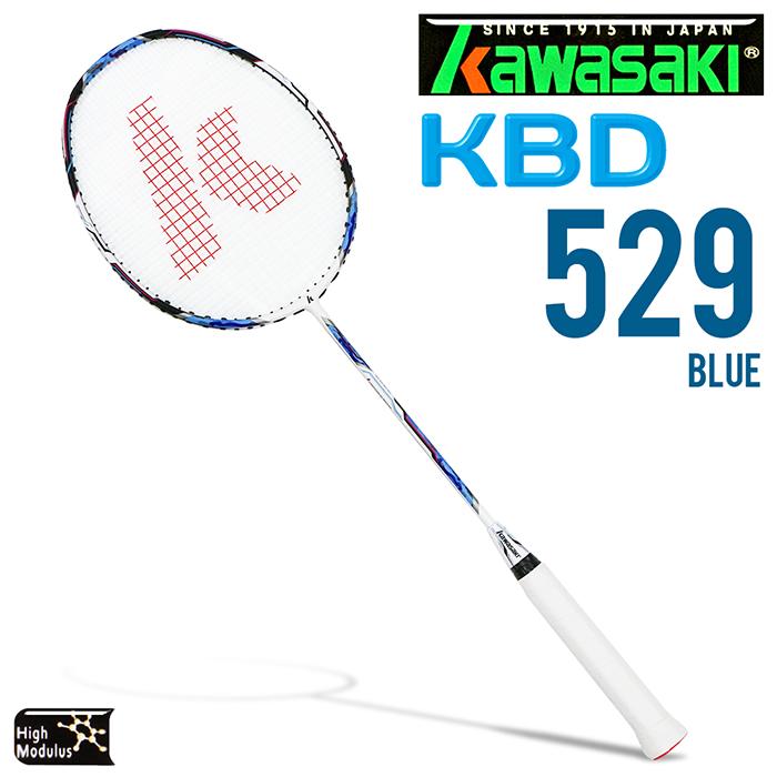 Kawasaki KBD529 碳纖維超輕羽球拍(藍)
