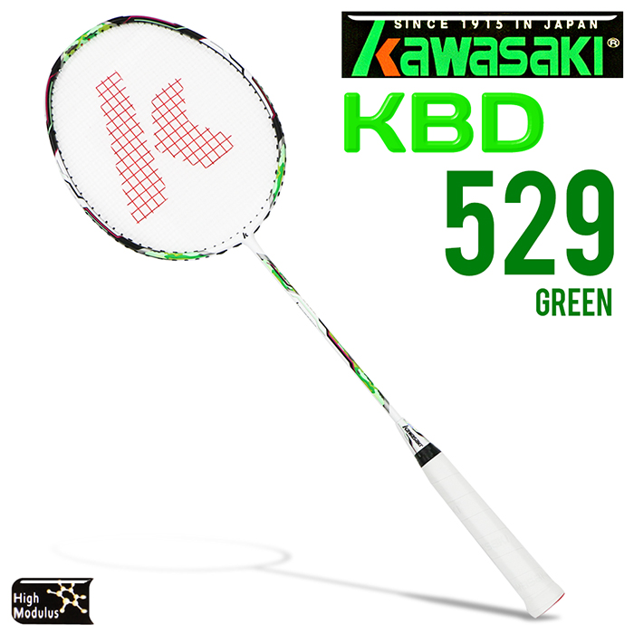 Kawasaki KBD529 碳纖維超輕羽球拍(綠)