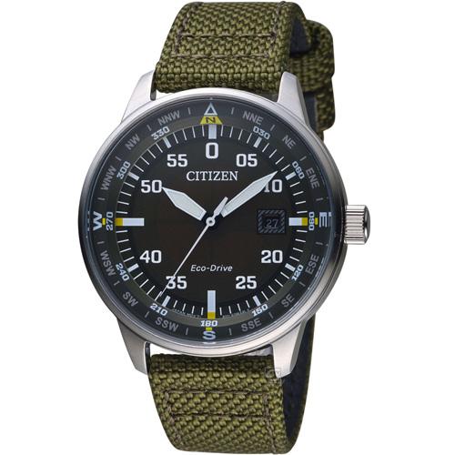 CITIZEN星辰復刻潮流光動能腕錶  BM7390-22X 墨綠