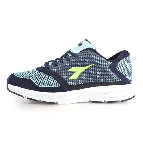 (女) DIADORA 慢跑鞋-路跑 丈青水藍綠