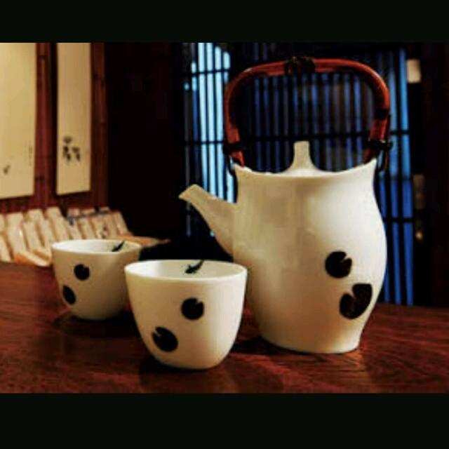 【日本橘吉 】蓮二鯉茶器(1壺2杯)