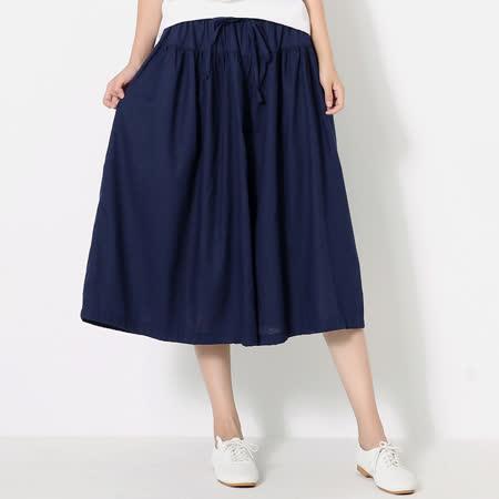 【Stoney.ax】(快速到貨)熱銷商品寬鬆傘狀棉麻長裙褲