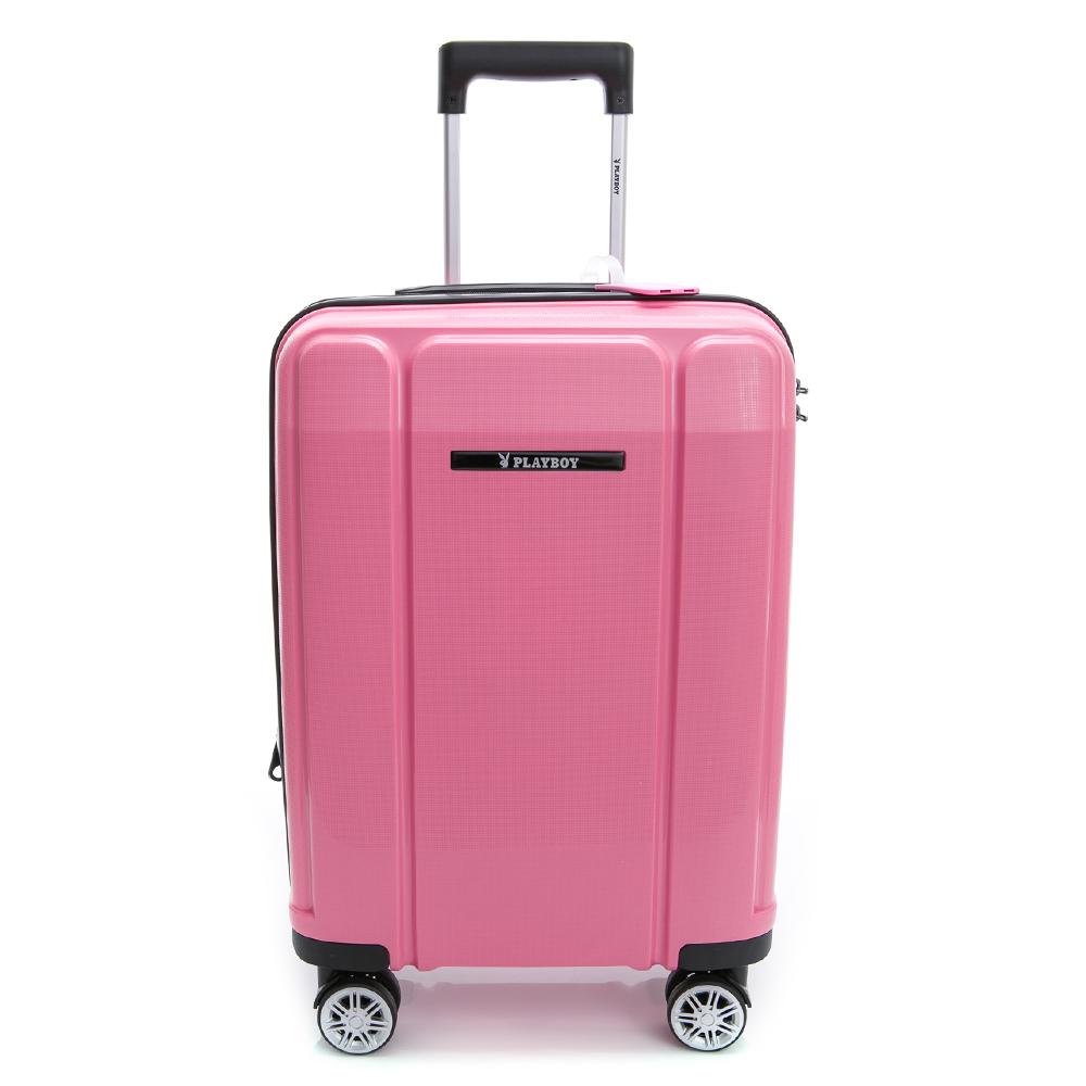 PLAYBOY-旅行箱 Minimalism系列-粉紅色20吋