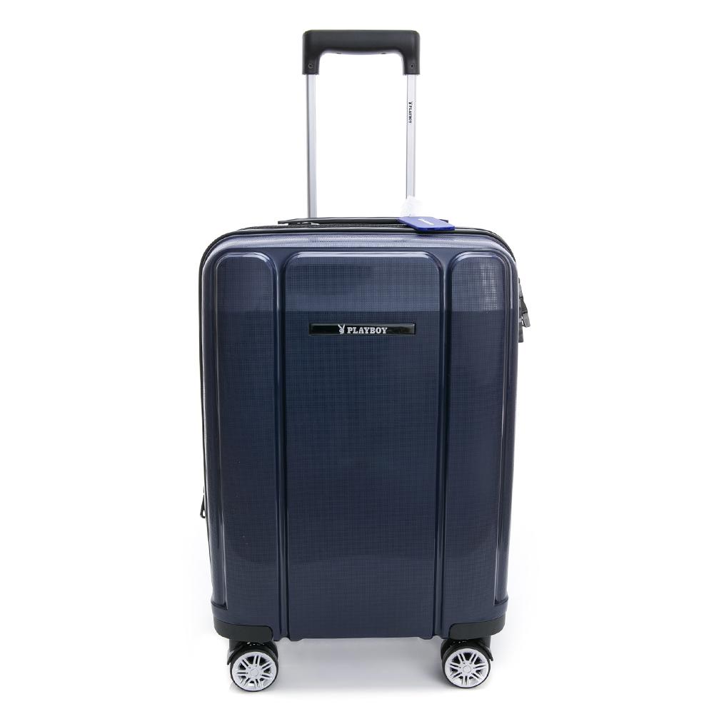 PLAYBOY-旅行箱 Minimalism系列-藍色20吋