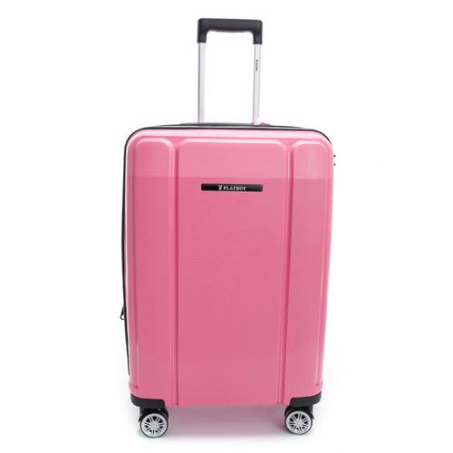 PLAYBOY-旅行箱 Minimalism系列-粉紅色24hjp4