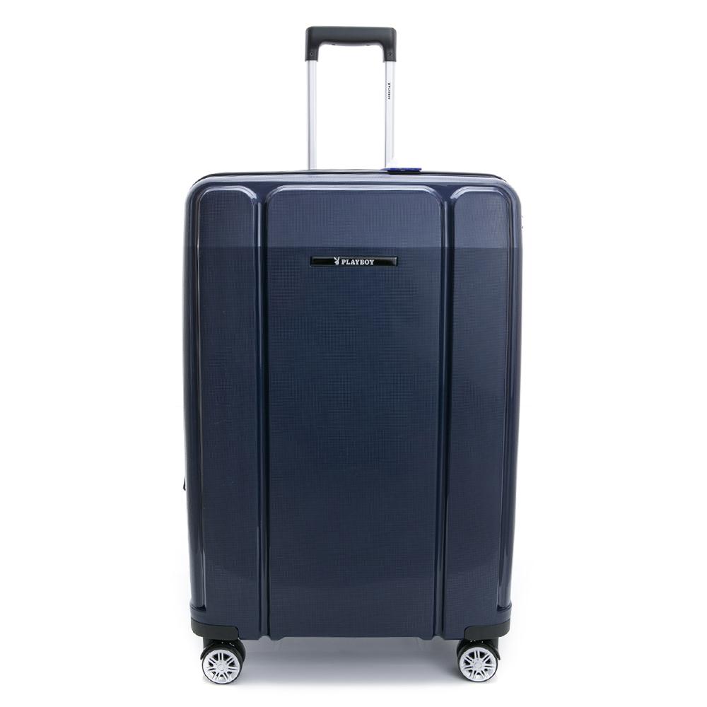 PLAYBOY-旅行箱 Minimalism系列-藍色24吋
