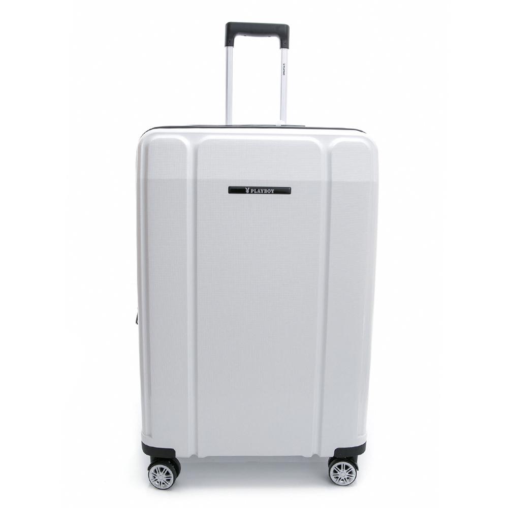 PLAYBOY-旅行箱 Minimalism系列-白色28吋