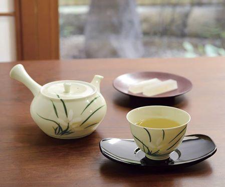 【日本橘吉 】蘭香茶器組(1壺5杯)-日本製