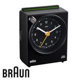 BRAUN德國百靈 聲控旅行鬧鐘 質感黑(BNC004BKBK)(盒損出清)