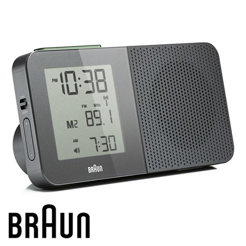 BRAUN德國百靈 電波數位收音機鬧鐘 質感灰(BNC010GYGY-SRC)(盒損出清)