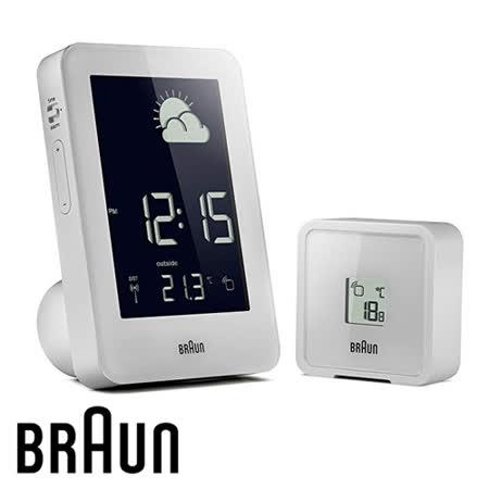 BRAUN德國百靈 電波數位氣象站鐘 質感白(BNC013WHWH-RC)(盒損出清)
