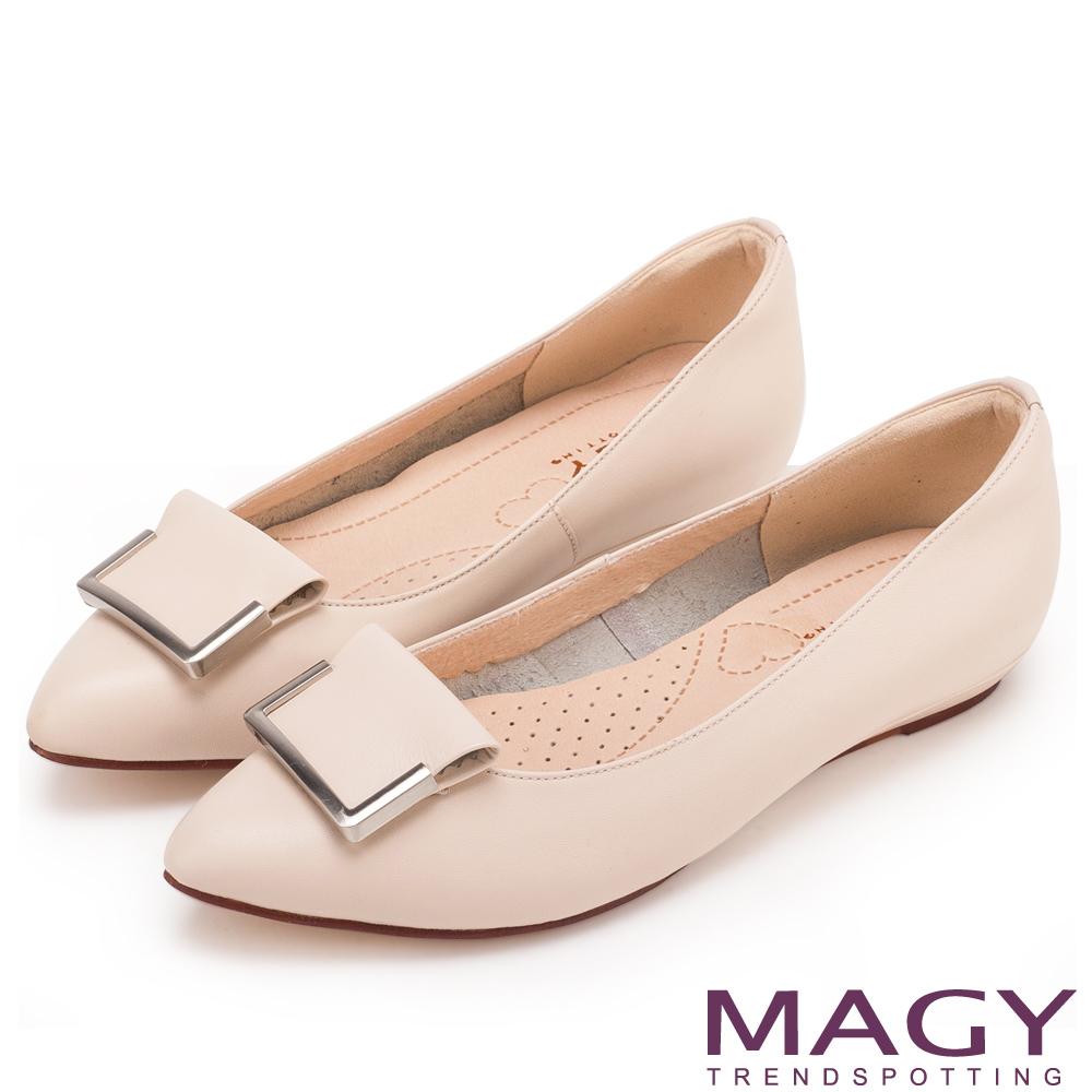 MAGY 皮尖頭平底鞋