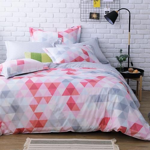 IN HOUSE - pink prism -200織紗精梳棉-兩用被床包組(加大)