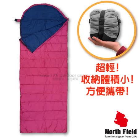 美國 North Field 15℃超輕全開式信封型睡袋