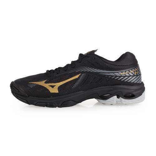 (男) MIZUNO WAVE LIGHTNING Z4 排球鞋-排球 訓練 美津濃 黑金