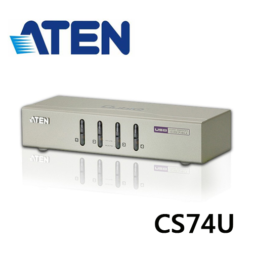 ATEN CS74U 4埠USB VGA/音訊 KVM多電腦切換器