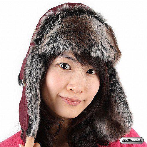 [SNOW TRAVEL] 極地保暖遮耳帽(酒紅色)