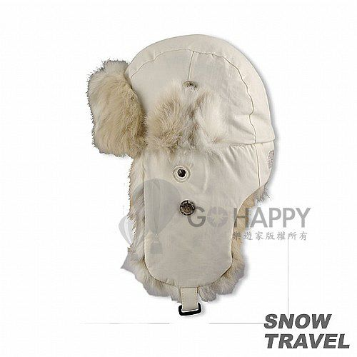 [SNOW TRAVEL] 極地保暖遮耳帽(白色)