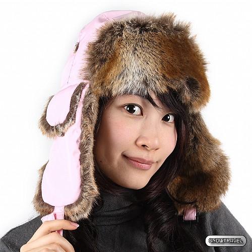 [SNOW TRAVEL] 極地保暖遮耳帽 (粉紅)