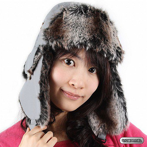 [SNOW TRAVEL] 極地保暖遮耳帽 (灰色)