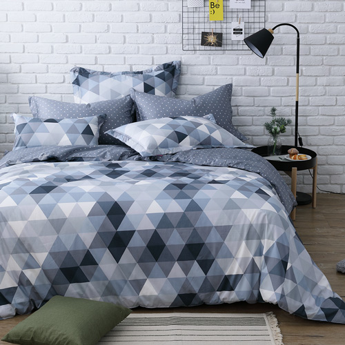 IN HOUSE -gray prism-200織紗精梳棉-兩用被床包組(加大)