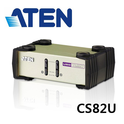 ATEN CS82U 2埠PS/2-USB VGA KVM多電腦切換器