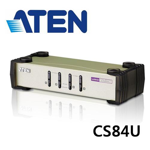 ATEN CS84U 4埠PS/2-USB VGA KVM多電腦切換器