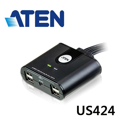 ATEN US424 4x4 USB 2.0 週邊分享切換器