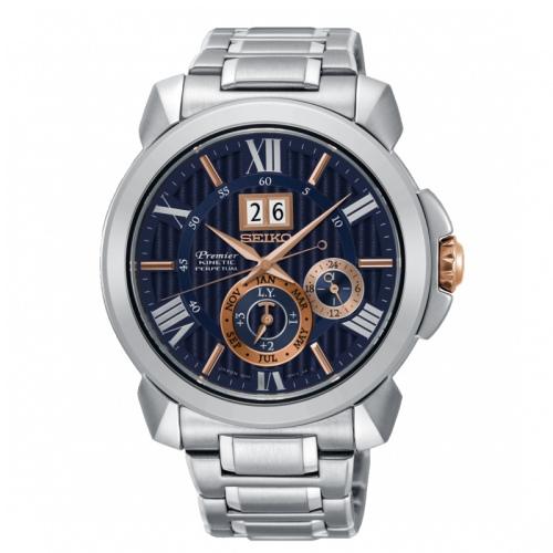 SEIKO精工 Premier 人動電能萬年曆手錶-42.9mm 7D56-0AE0A