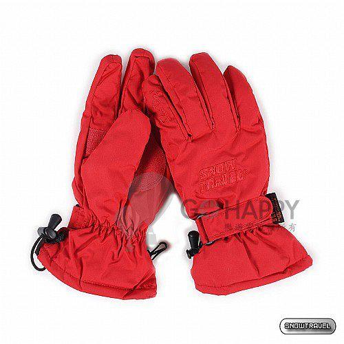 SNOWTRAVEL POLARTEC保暖透氣雙層防風手套(紅色)