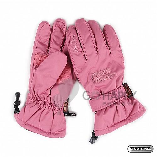 SNOWTRAVEL POLARTEC保暖透氣雙層防風手套(粉紅)