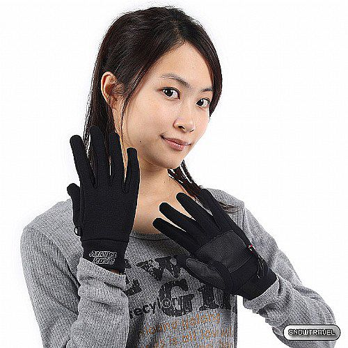 [SNOW TRAVEL] POWER STRETCH四向彈性手套 (黑色)