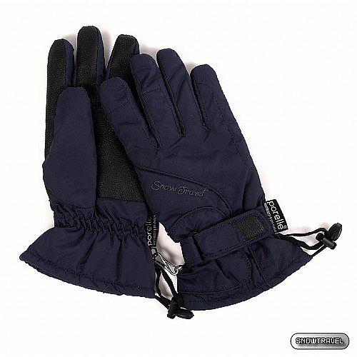 [SNOW TRAVEL] PORELLE防水透氣素面薄手套 (藍色)