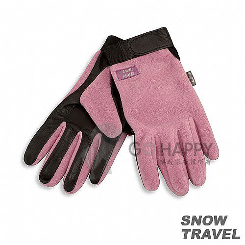 [SNOW TRAVEL] WINDBLOC小羊皮防風保暖手套 (粉紅)