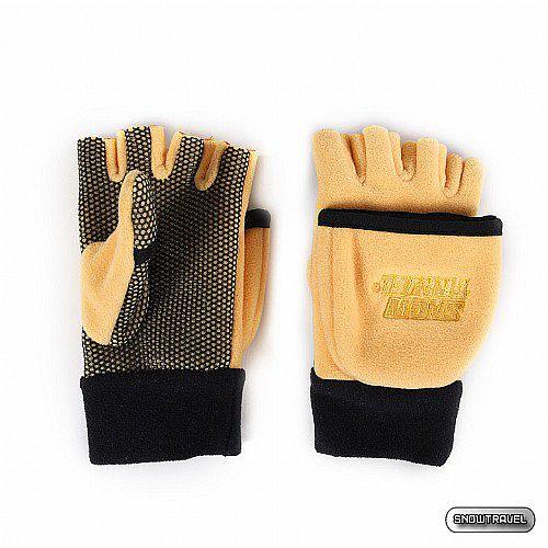 [SNOW TRAVEL] WINDBLOC防風保暖半指兩用手套 (黃色)