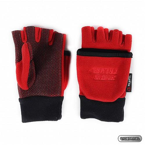 [SNOW TRAVEL] WINDBLOC防風保暖半指兩用手套 (紅色)