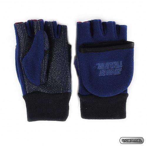 [SNOW TRAVEL] WINDBLOC防風保暖半指兩用手套 (藍色)